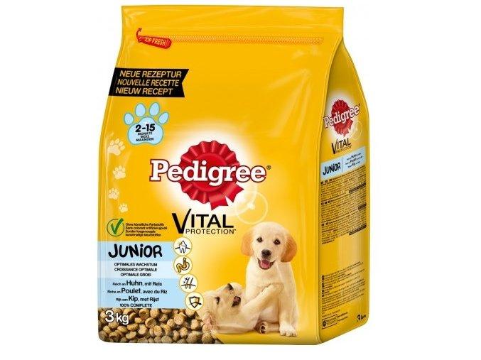 Pedigree Junior psí granule s kuřecím masem a rýží 3kg