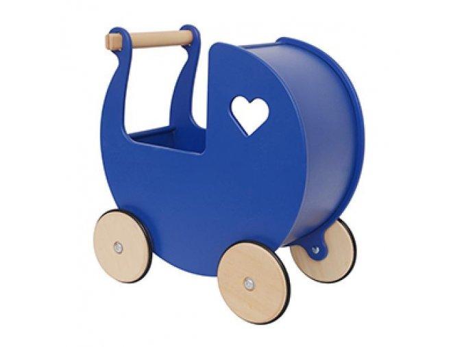 Dětský kočárek tmavě modrý