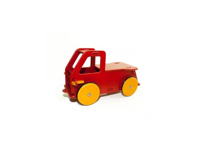Dřevěné auto červené