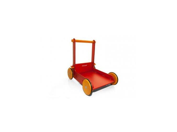 Dřevěný vozík červený