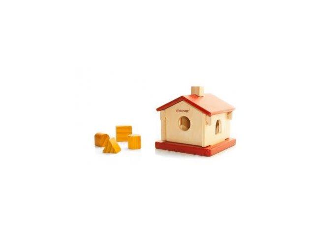 Dřevěný domeček vzdělávací hračka 3v1