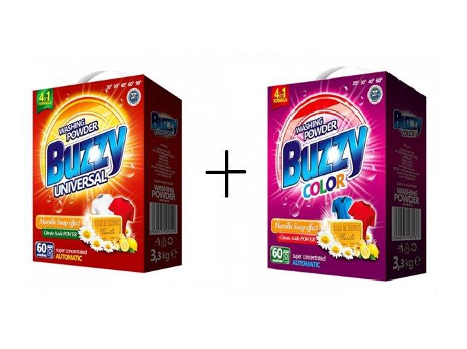 Buzzy prací prášek Universal 60 PD + Buzzy prací prášek Colorl 60 PD