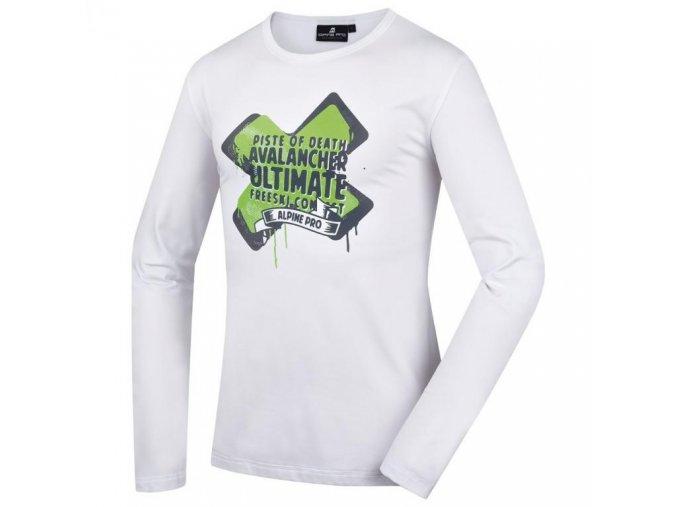 Pánská trička s potiskem Alpine pro  VAILEAN 70043000 / bílé