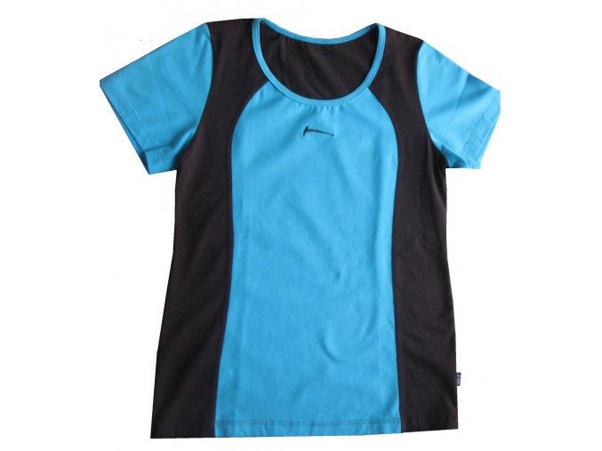 Draps Dámské tričko 83 / modrá+hnědá
