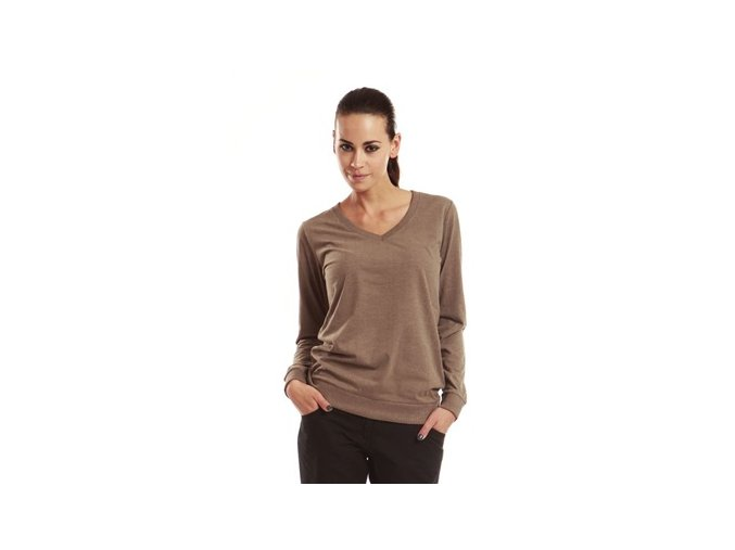 Alpine Pro hnědá dámská trička ELLA