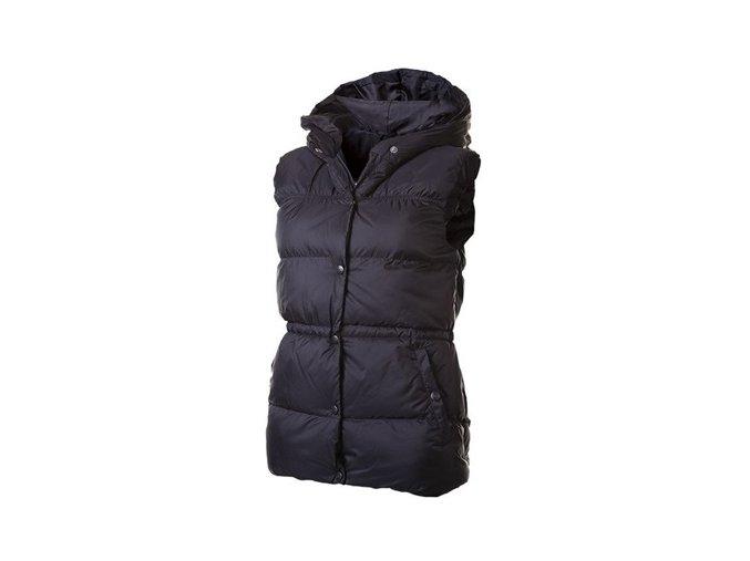 černé dámské zimní vesty Alpine Pro Celia