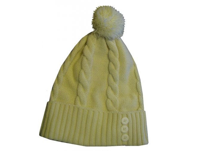 Alpine Pro 43044002 NICOLETE dámská zimní čepice s bambulí - krémová