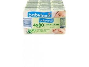 babylove, Dětské ubrousky, 4x80 ks, 320 ks