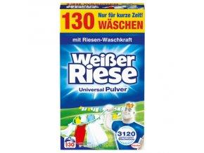 Prací prášky z Německa Weisser Riese Universal XXL, 130 pracích dávek