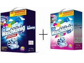 Akce Waschkönig, prací prášek Univesal 100 PD + prací prášek Color 100 PD