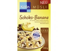 Kölln Čokoládové müsli s banánem, 500 g