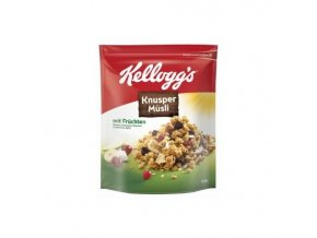 Kelloggs Crunchy Müsli Frucht ovocné-potraviny z Německa.