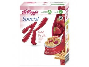 Kelloggs Special K red fruits, křupavé vločky s jahodami, malinami a třešněmi