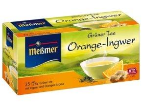 Messmer Zelený čaj s příchutí pomeranče a zázvoru 25 x 1,75 g, 43,75 g