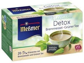 Meßmer DETOX kopřivový & zelený čaj 20 x 2,00g, 40 g