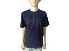 Pánská trička s potiskem Draps modrá 420