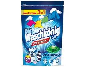 WaschKönig Universal kapsle na praní z Německa 3v1, 30 ks