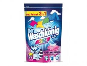 WaschKönig Color kapsle na praní 3v1, 27 ks