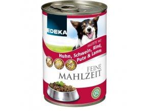 EDEKA Jemné krmivo pro psy s 5 druhy masa 400g