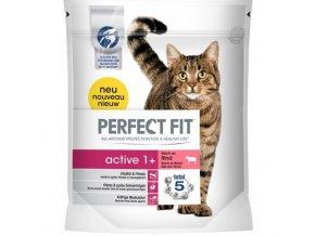 Perfect Fit active 1+ suché granule s hovězím masem pro kočky 750g