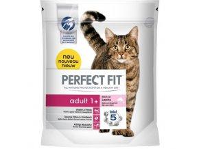 Perfect Fit adult 1+ suché granule s lososem pro kočky 750g