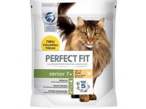 Perfect Fit Senior 7+ suché granule s kuřecím masem pro kočky 750g