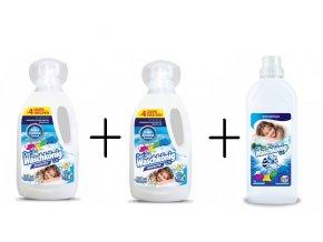 2 x Waschkönig prací gel Sensitive, 46 PD + Waschkönig aviváž Sensitive 1 L