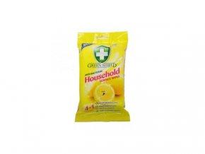 Green Household Surface Wipes antibakteriální ubrousky s vůní citronu  50 kusů