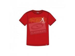 Pánská trička s potiskem Loap GENE CCM1232 červená