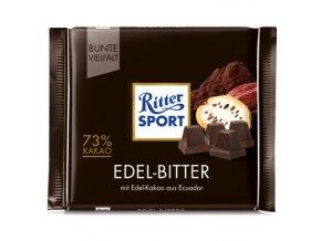 Ritter SPORT Hořká čokoláda se 73% kakaa, 100 g
