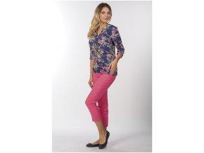 Draps 3/4 kalhoty v růžové barvě