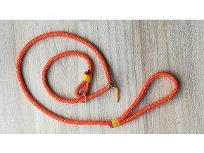 Oranžové stahovací vodítko pro psa