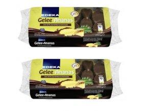 2x EDEKA Ananasové želé v hořké čokoládě, 250g