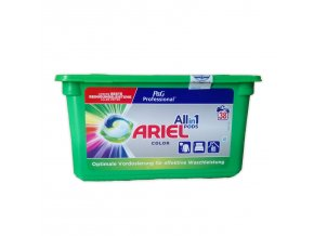 Prací kapsle Ariel Pods Allin1 Color na barevné prádlo, 38 ks | Malechas