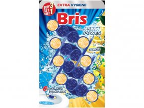 Bris WC závěska barvící 4x55g - citrón