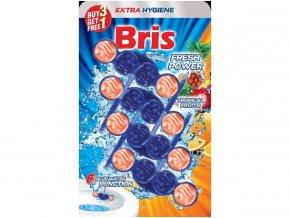 Bris WC závěska barvící 4x55g - vůně tropického ovoce