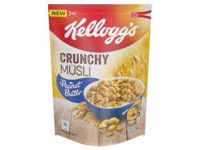 Kelloggs Crunchy Müsli křupavé s arašídy, 450 g