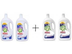 Ariel Professional prací gel na bílé prádlo 148 PD + Ariel Professional Color prací gel 140 PD
