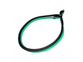 černo zelený stahovací obojek