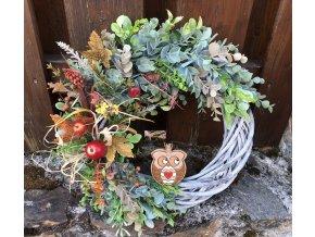 Podzimní věnec se sovou