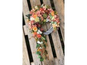 Podzimní věnec hortenzie