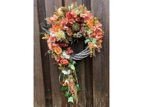 Podzimní věnec hortenzie s převisem