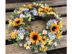 Podzimní věnec slunečnice