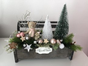 Vánoční dekorace s medvídkem