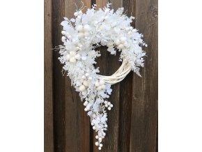 Vánoční věnec na dveře bílý