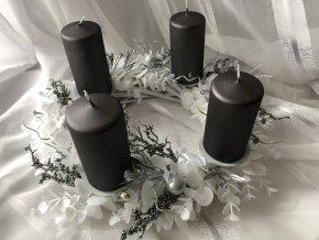 Adventní svícen šedý