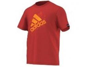 Pánská trička Adidas červená s potiskem B PERF LOGO F83661