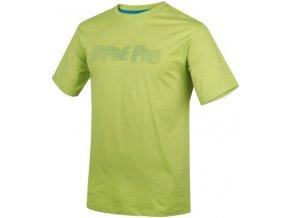 Pánská trička s potiskem Alpine Pro zelené XXL