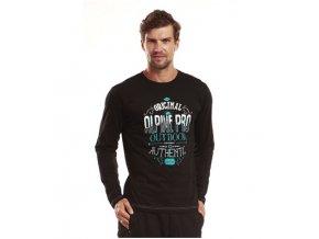 Pánská trička s potiskem Alpine Pro černé TEODORO