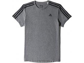 Pánská trička Adidas šedá S 17653 ESS 3S TEE | Malechas